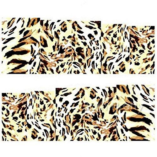 Born Pretty 1 Planche Water Decals Stickers IntšŠgraux LšŠopard DšŠcorations Ongles Nail Art Manucure