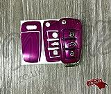 Pink Fuchsia Schlüssel Wrap Cover Fall Haut Audi Fernbedienung A1A3A4A5A6A8TT Q3Q5Q7