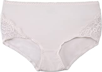 Clovia Women's Cotton High Waist Hipster With Lace Sides