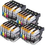 20x Druckerpatronen kompatibel für Brother LC-123 LC123 xl Brother DCP-J132W DCP-J150 Series DCP-J152W DCP-J152WR DCP-J172W DCP-J4110DW DCP-J4110W DCP-J552DW DCP-J752DW MFC-J245 MFC-J285DW MFC-J4310DW MFC-J4410DW MFC-J4510DW MFC-J461DW MFC-J470DW MFC-J470 Series MFC-J4710DW MFC-J475DW MFC-J650DW MFC-J6520DW MFC-J6720DW MFC-J6920DW MFC-J870DW MFC-J875DW MFC-J970DW