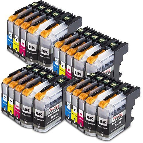 Preisvergleich Produktbild 20x Druckerpatronen kompatibel für Brother LC-123 LC123 xl Brother DCP-J132W DCP-J150 Series DCP-J152W DCP-J152WR DCP-J172W DCP-J4110DW DCP-J4110W DCP-J552DW DCP-J752DW MFC-J245 MFC-J285DW MFC-J4310DW MFC-J4410DW MFC-J4510DW MFC-J461DW MFC-J470DW MFC-J470 Series MFC-J4710DW MFC-J475DW MFC-J650DW MFC-J6520DW MFC-J6720DW MFC-J6920DW MFC-J870DW MFC-J875DW MFC-J970DW