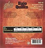 GHS Strings RKX-10 RED COATED STAINLESS STEEL BAJO QUINTO Strings, Loop End - Cuerdas Rojas