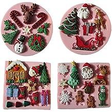 Musykrafties Santas Essential Dulces De Navidad Molde De Silicona para Magdalena, Decoración Tartas, Azúcar