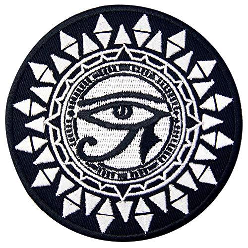 EmbTao Auge des Horus und der Sonne Bestickter Aufnäher zum Aufbügeln/Annähen