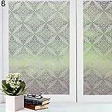 quanjucheer Frosted Fenster Glas Film Aufkleber, Badezimmer Sichtschutz Wasserdicht Aufkleber Aufkleber 8#
