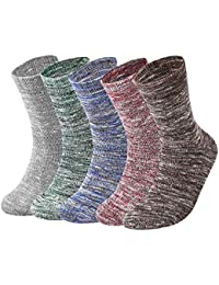 VBIGER 5 Pares Calcetines de algodón Hombre Calientes Térmicos para invierno