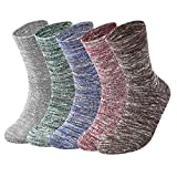 Vbiger 5 Paar Herren Crew Socken Baumwolle Socken Verdickt Thermische Warme Winter Terry Socken