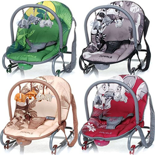 Baby Bouncer JUNGLE (including removable play arch) 61XKQTiFLWL