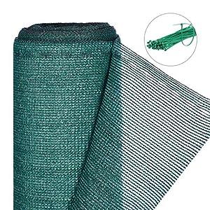 Relaxdays Zaunblende, Sichtschutz für Gartenzaun & Balkongeländer, HDPE Gewebe, UV-stabilisiert, wetterfest, 1x6m, grün