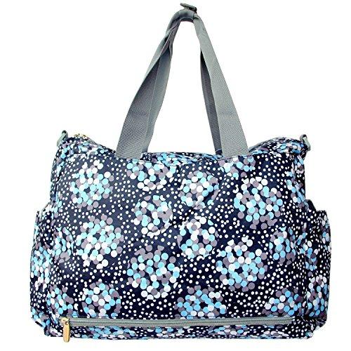 ADOO Handliche Baby-Windel-Wickeltaschen Wipeable Totes 4pcs Deluxe Wechselnde Tote Mama Handtaschen Light Blue