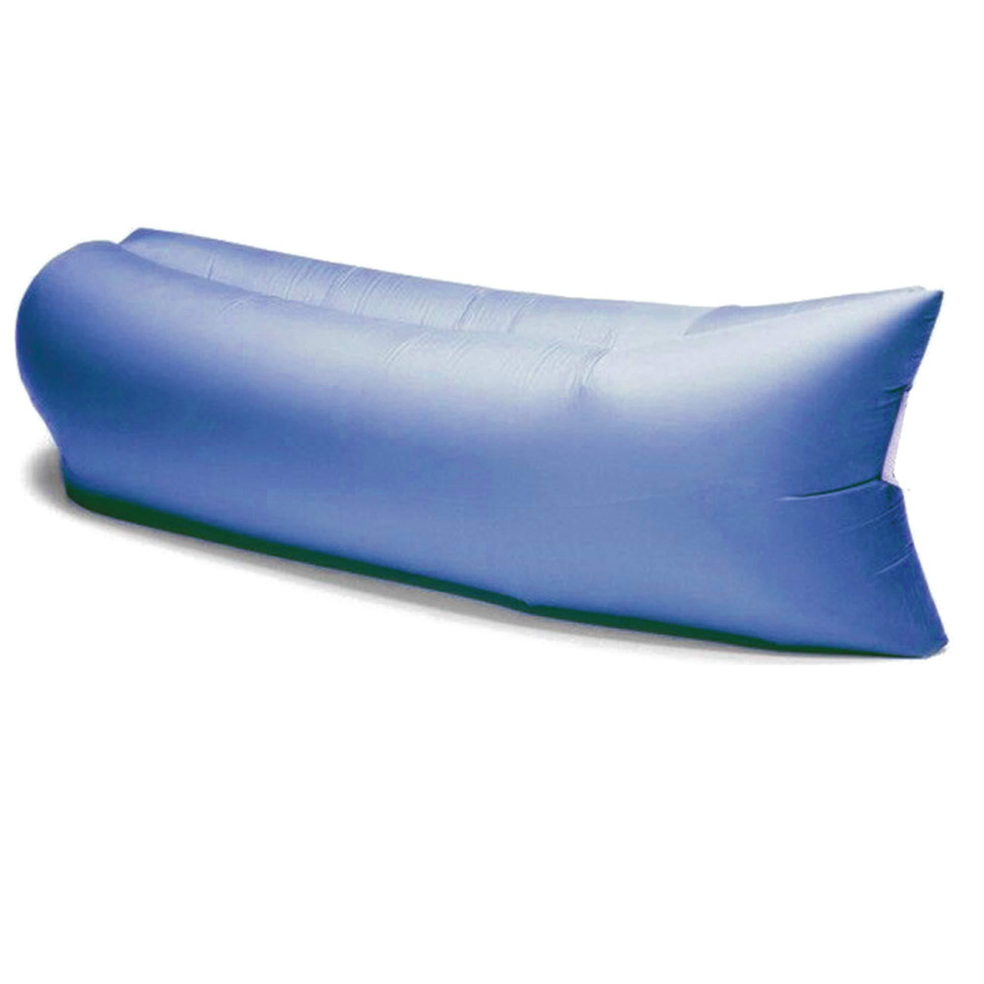 Lettino Gonfiabile Con Aria.Divano Gonfiabile Ad Aria Comfort Bag Con Sacca Di Trasporto Lettino Gonfiabile Blu In Nylon Ripstop Mis 200x80x60cm Circa Materassino Gonfiabile