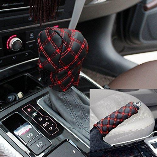 Silence-Shopping Décoration de voiture Accessoires Auto frein à main de couverture de vitesse Définit Coussin Rétroviseur intérieur Définit Cover Pad