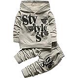 Kobay Kleinkind Baby Boy Style Brief Drucken Hood Tops Muster Hosen 2 STÜCKE Set Kleidung