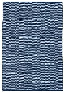 fab habitat zen polypropylen teppich 2 39 x 3 39 blau wei. Black Bedroom Furniture Sets. Home Design Ideas