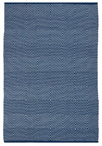 FAB HAB - Intérieur/Extérieur Pet Tapis - Zen Bleu et Blanc (120 cm x 180 cm)