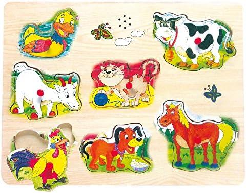Bino - - - 88082 - Puzzle à encastreHommes t - Vocali - avec bruits d'animaux | D'ornement  99b399