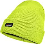 normani Herren Thinsulate Strickmütze, Beanie Skimütze mit besonders Warmer Fütterung Einheitsgröße Farbe Gelb - fluoreszierend