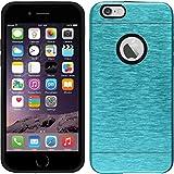 PhoneNatic Case für Apple iPhone 6s / 6 Hülle blau Metallic Hard-case für iPhone 6s / 6 + 2 Schutzfolien