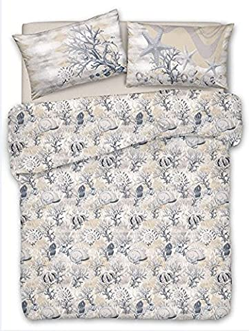 Bedspread Spring Summer Double 260x 280Sea Shells Jacquard Beige Cotton Pique Polo Made in Italy