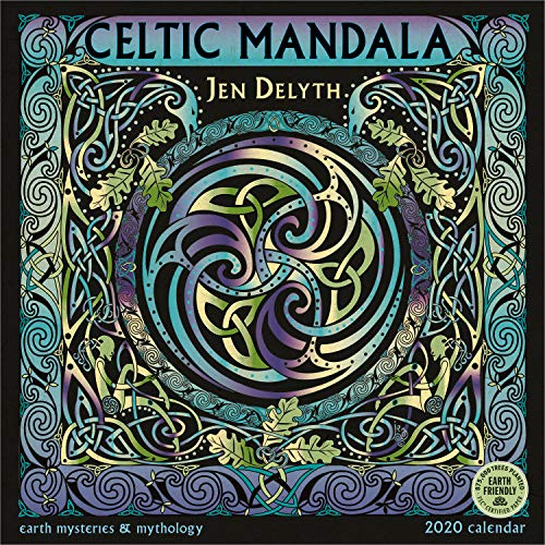 Celtic Mandala 2020 Wall Calendar: Earth Mysteries & Mythology by Jen Delyth
