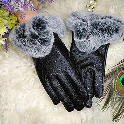Fansport Women's Leather Winter Gloves - 1 Pair