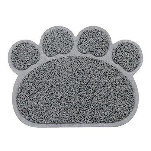 Pet Puppy Dog Cat Schüssel Futtermatte AOLVO Pet Food Wasser Feed Tisch-Sets Fütterungstablett Pad Katzenstreu Matte grau (Fließendes Wasser Katze Schüssel)