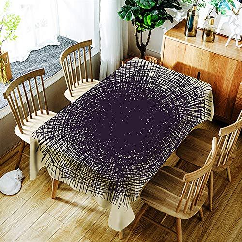 chdecke wasserdicht Rechteck Baumwolle Tischdecke Esstisch Abdeckung Home Halloween Dekoration C 150x260cm ()