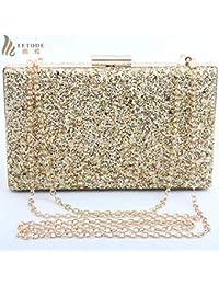 Women Clutch Evening Bag Camouflage Shiny Wedding Party Fashion Handbags Chain Shoulder Bag Messenger Bags Box...