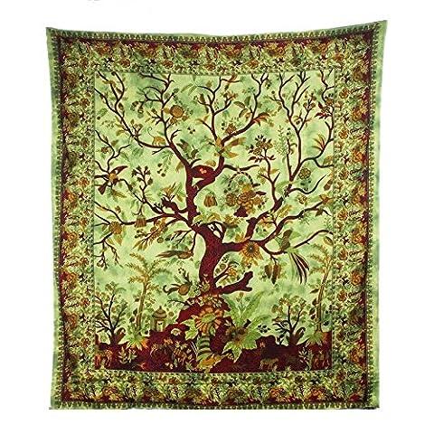 JTH Tree of Life Gobelin, Hippie Wandteppiche, Bohemian Boho Überwurf Wandbehang Tapisserie.