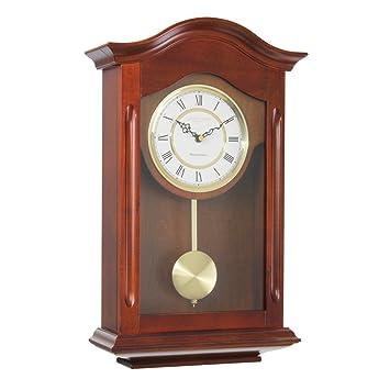 London Clock 25054 - Orologio a pendolo da parete, finitura in ...