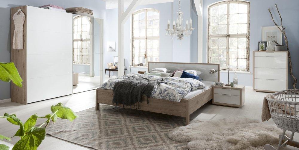Camera Da Letto Bianco Laccato : Camera da letto matrimoniale componibile completa color rovere
