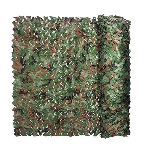 XUE Tarnnetz Woodland Grün für die Jagd Camouflage Netz für Sniper Armee Fotografie Sonnenschutz Deko 1,5x2M 1,5x3M 1,5x4M 1,5x5M 1,5x6M 1,5x7M 1,5x8M 1,5x9M 1,5x10M 1,5x15M 1,5x20M -