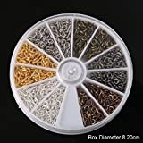 #4: Jo's High Quality 1 Box – 6 colors (600pcs/lot 4*9mm) Iron Screw Eye Pin Needles Bail Peg For Half-drilled Beads Jewelry Findings for DIY Vintage