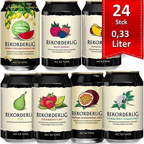 Rekorderlig Cider Probier-set 24 X 0,33l Dosen Pfandfrei