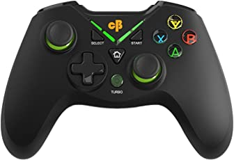 Cosmic Byte C3070W Nebula 2.4G Wireless Gamepad for PC/PS3/Android supports Windows XP/7/8/10, Rubberized Texture