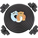 Zindoo 5,2M Protection de Table Enfant + 8 Protections de Coin et 2 Protecteurs D'enfant, Protection de Meubles en Mousse Souple Pour Bébé et Famille