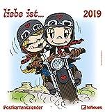 liebe ist... 2019 - Sprüchekalender, Wandkalender, Postkartenkalender 2019  -  16 x 17 cm