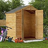 BillyOh 4x6 Keeper Overlap Windowless Garden Storage Wooden Shed Apex Roof & Felt 4ft x 6ft