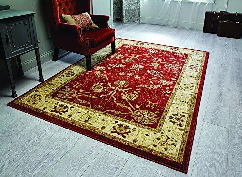 Ziegler Arak - Alfombra / Tapete estilo persa para salón y comedor - Clásico y tradicional - oxido/crema 80 x 150cm