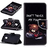 BONROY® Magnetic Flip Cover for MOTO G5,Colorful painted pattern Wallet Case with Hand Strap for MOTO G5, Premium PU Leather Folio Style Flip with Card Slots and Stand Function Case Cover for MOTO G5