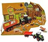 Unbekannt Set: XL Bauernhof / Pferdestall mit Stall + Traktor mit Tiere + Zubehör Incl. ..