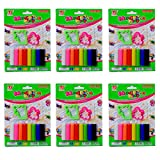 #4: SR GIFTS Set of 8 Stick Modeling Clay with 2 Moulds for Kids/Teens Birthday Party Return Gift(Pack of 12)