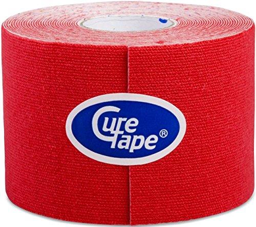 Cure Original Kinesiology Tape, 5cm x 5m rot Schwarz / Weiß / Rot