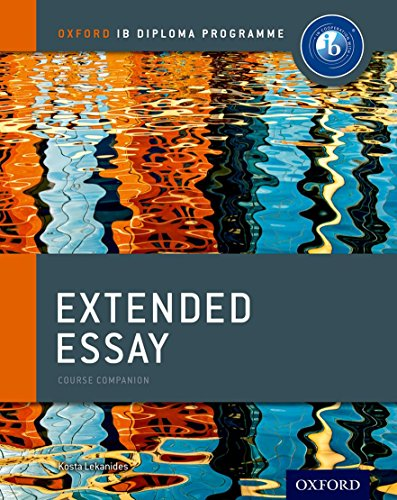 Oxford IB Diploma Programme: Extended Essay Course Companion Cover Image