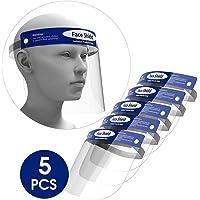 LexTure Reusable Safety Face Shield, 5 Pcs Anti-fog Full Face Shield, Universal Face Protective Visor for Eye Head Protection, Anti-Spitting Splash Facial Cover for Women, Men