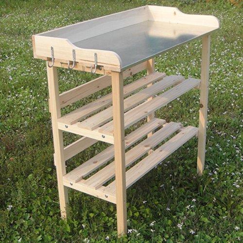 Melko Pflanztisch Gärtnertisch Holztisch Kräutertisch aus Fichtenholz, 84 x 78 x 38 cm