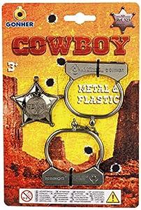 Gohner Cowboy Handcuffs and Star New - Accesorios de disfraz ( 323/0)
