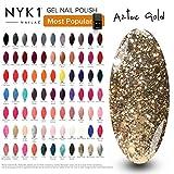 Luxus-Gold-Nagel-Gel-Polnisch - (Aztec Gold) Glitter-Diamant für Schellack-Nagel-Lampen-heller Ultimate Sparkle Frühlings-Sommer-Winter-Liebling Meistverkaufte beste NYK1 Nailac tränken weg von der Farbe