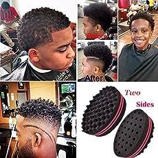 ZoraQ Doppelseite Afro-Geflecht-Art-Wellen-Haar-Locken-Schwamm-Bürsten-Torsions-Spulen-Wellen-Haar-Schwamm