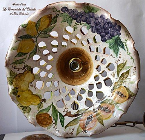 lustre-cuisine-salle-de-bain-chambre-ligne-fruits-ceramique-peint-a-la-main-le-ceramiche-del-castell
